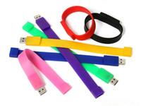 Wholesale 1G G G G G wrist u disk colourfull wrist USB drives