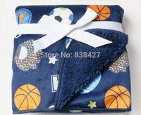 basketball blanket - Factory Price basketball printed fleece throw blanket Super Soft baby comforter Bedding babe nap cobertor