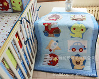 baby nursery bedding for boys - 100 cotton Baby Quilt Nursery Comforter Cot Crib bedding for girl and boy animal lion giraffe Designs pattern