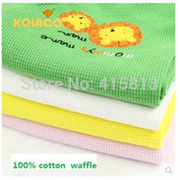 baby waffle blankets - Baby blankets cotton Children blankets towel cotton waffle blanket summer air conditioning blanket X80cm