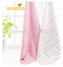Wholesale Newborn pack blankets cotton flannel baby bed sheets baby cloth bag single pack ribbon hanger X76cm