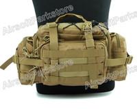 Wholesale 1200D Molle Tactical Ways Utility Waist Pouch Tan waist bag