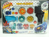 Wholesale Super Top Clash Metal Beyblade Spinning Tops Toys With Four Beyblade One Handle