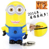 batman money bank - Gift New Lovely Stealing Coins Despicable me Minion Cent Penny Saving Money Box Pot Case Piggy Bank