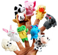 Cheap New arrival 12 pcs lot, Baby Plush Toy  Finger Puppets Tell Story Props(10 animal group) Animal Doll  Kids Toys  Children Gift