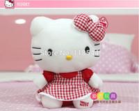 Wholesale 25cm red hello kitty toys plush hello kitty plush soft toys stuffed hello kitty kids toy baby toy