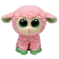 Wholesale TY Beanie Boos Babs Pink Lamb Sheep Plush Toys cm TY Big Eyes Plush Animals Brinquedos Kids Toys for Children