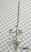 beautiful moths - 1 Stem Beautiful Silk Flower Artificial Small Moth Orchid Butterfly Orchid Home Decoration Gift Colors Available F188