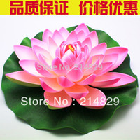 Flower artificial park - New Artificial Pink Large Purple Orange Floating Lotus Water Lily Home Garden Pond Park