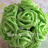 artificial limes - 100pcs High Quality Lime Green Artificial Flowers Wedding Arrangement Flowers Fake Real Touch Flower