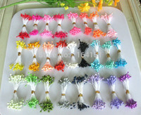 Wholesale mixed color mm pearl flower stamen floral stamen cake decoration for DIY choose colors