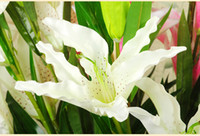 artificial flower tiger lily - three tiger lilies orchid High simulation flower artificial plants flowers home decorate manufacturers silk flowers