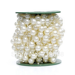 NEW STYLE IN STOCK!30meters 12MM+3MM pearl beads wedding garland centerpiece flower table candle decoration DIY crafting