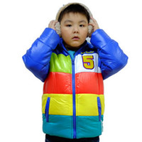 Wholesale New Style Children Winter Clothing for Boys Wear Candy Color Jackets A2747