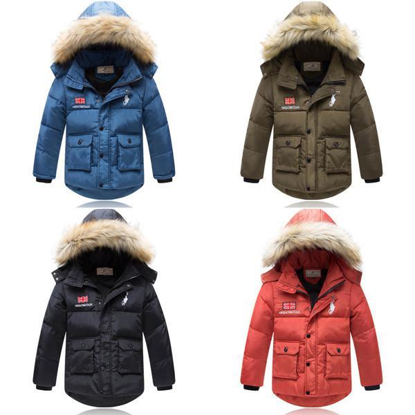 2015 Brand Kids Down Jacket Children Winter Outerwear Boy Coat