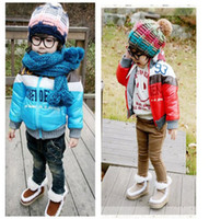 Wholesale New style baby thick coat Casual boy and girl coat colors children cotton padded jacket Retail CS041