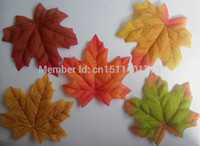 fall decorations - Fall Silk Leaves Wedding Favor Autumn Maple Leaf Decorations cm color choices