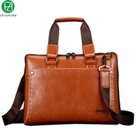 Wholesale men s leather briefcase England Style brand business men messenger bags high quality casual men s shoulder bag for men style