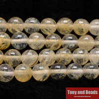 "Cheap Free Shipping Natural Stone Smooth Citrine Quartz Loose Beads 16"" Strand 6 8 10 12 MM Pick Size For Jewelry Making Q2"