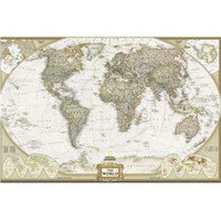 Cheap Vintage Nostalgic Retro Classical Antique Canvas Map World Map 150*100CM2