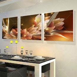 2016 фотографии панели 3 Панель Современная печатная стена живописи цветок рисунок КУАДРОС холст картины стены искусства Home Decor для гостиной No Frame PR216 дешево фотографии панели