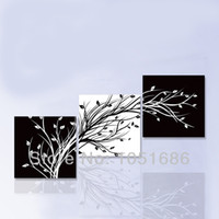 white flower oil - Hand Painting Flower Oil Painting Modern Black White Canvas Wall Art Pieces Pictures Decor For Home