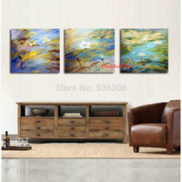 Wholesale Handmade Oil Painting Decor Lotus Flower Picture Wall Pictures For Living Room Decor Hang Painting Group Of Abstract Pictures