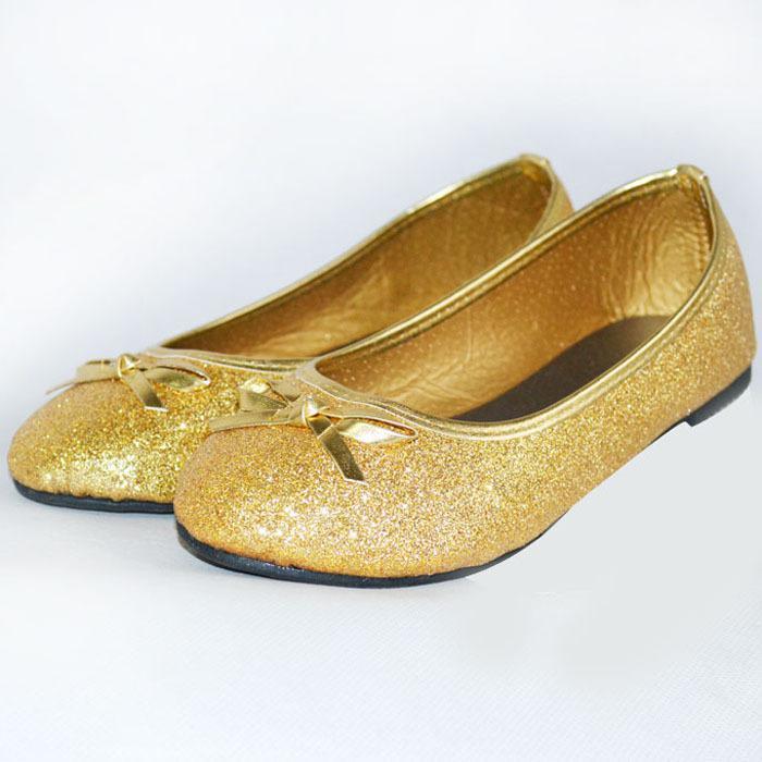 Wholesale-2015 Toddler Girls Shoes Gold Glitter/Princess ...