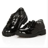big boys dress shoes - New Design Kids Formal Dress Leather Shoes for Boys Brand England Style Children Wedding Shoes Big Boys Brogue Shoes YJ049