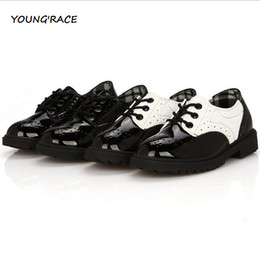 Wholesale-2015 Brand New Boys Formal Leather Shoes for Weddings England Style Kids Leather Dress Shoes Boys Brogue Wedding Shoes, S002
