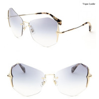 beach leader - Vogue leader hot rimless coating women s designer gradient Sunglasses logo oculos feminino gafas de sol female lunette