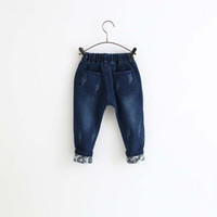 ad boot - AD Y Fashion Jeans for Boys Girls Ripped Cotton Turn up Bottom Kids Baby Jeans Toddler Children s Clothing Clothes