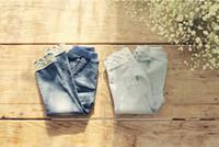 age boots - new girls fashion lace hem jeans pencil pants age children cute denim trousers clothing baby kids hot sale clothes D45