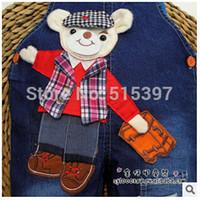 bib trades - Weaving factory children s clothing children s jeans overalls Baby Bib overalls original single foreign trade