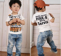 baby boy cowboy boots - LP new arrival baby boys hole jeans high quality Cowboy childrens pants kids fashion trousers retail