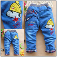 Wholesale hot sale baby boy jeans harem boy pants cute cartoon denim boy jeans baby boy high quality sport pants Year