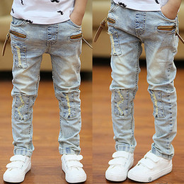 Wholesale-Boys Jeans Spring 2015 spring and autumn models boy jeans trousers Kids Korean children wave of big boy jeans