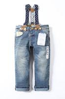 bib brace jeans - Hot Selling the New Fashion Autumn Children Overalls Baby Boys Suspender Trousers Reclosable Braces Denim Bib Pants