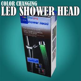 60pcs / lot LED grifo, ducha del LED, LED Cambiar color de luz grifo