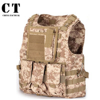airsoft military gear - Mens Airsoft Tactical Vest Military Amphibious Molle Vest Sport Multicam Ver5 Swat Modular Combat gilet Military Gear Waistcoat
