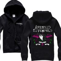 avenged sevenfold hoodies - AUTHENTIC AVENGED SEVENFOLD STARS FLOURISH MUSIC ROCK BANDWHITE TOP HOODIE SIZE S XXXL