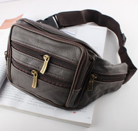 Wholesale Small Belt Bags - 2015 New fashion multifunctional small Genuine leather waist pack Outdoor Travel Sport belt bag fanny packs Phone money pouch