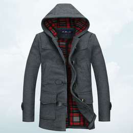 Pea Coat Hood Men