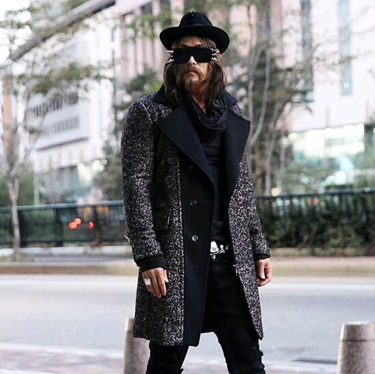 Discount 2015 New Fashion Gothic Thick Warm Mens Pea Coat Trench