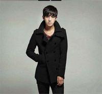 Wholesale 2015 Fashion Luxury Winter Coat Man Korean men double breasted wool coat woolen coat