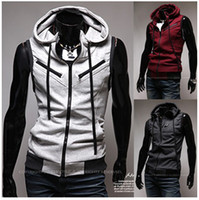 sleeveless hoodie - Slim Vest For Men With Hooded Sleeveless Hoodies Jacket Colete Masculino Mens Hip Hop Outdoor Sport Casual Dress Chaleco Hombre