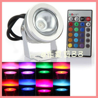 aluminum pools - 12V W Led RGB Underwater Led lights Lamp colors swimming pool pond Fountain Waterpoor Aluminum with Remote control
