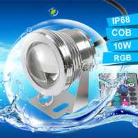 Wholesale 12V W RGB Underwater LED Light IP68 Waterproof LM Color Changing Swimming Pool Fountain Spot Lights With Remote Controller