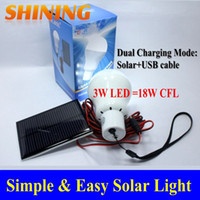 lamp kits - Solar Panel Powered LED Light Portable Solar Home Camping Emergency Indoor Light Lamp Lighting Kits