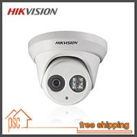 Anglais Logiciels Hikvision Original 3 MP dôme IR étanche caméra réseau IP de vidéosurveillance DS-2C2332-I, Soutien POE